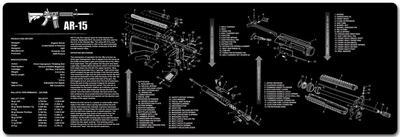 gun mats gun gear usa blog AR-15 Lower Parts Diagram gun cleaning mat for ar 15 with exploded parts diagram